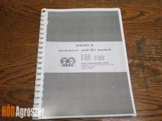 Gépkönyv DV-1784..DV-1794