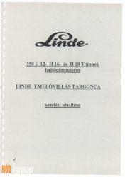 Gépkönyv Linde H12 15 18T