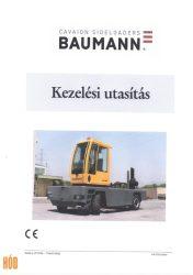 Gépkönyv Baumann oldalvillás targoncához