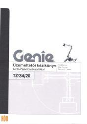 Gépkönyv Genie TZ-34/20
