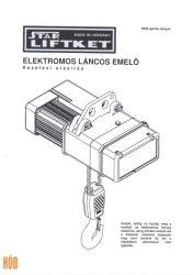 Gépkönyv Elektromos láncos emelőhöz