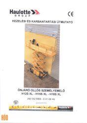 Gépkönyv Haulotte H12/ 15/ 18 S XL