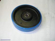 Elsőkerék műanyag poliuretán kék 200x50