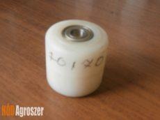 Görgő műanyag fehér 70 x 70 mm csapággyal