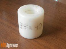 Görgő műanyag fehér 85 x 90 mm